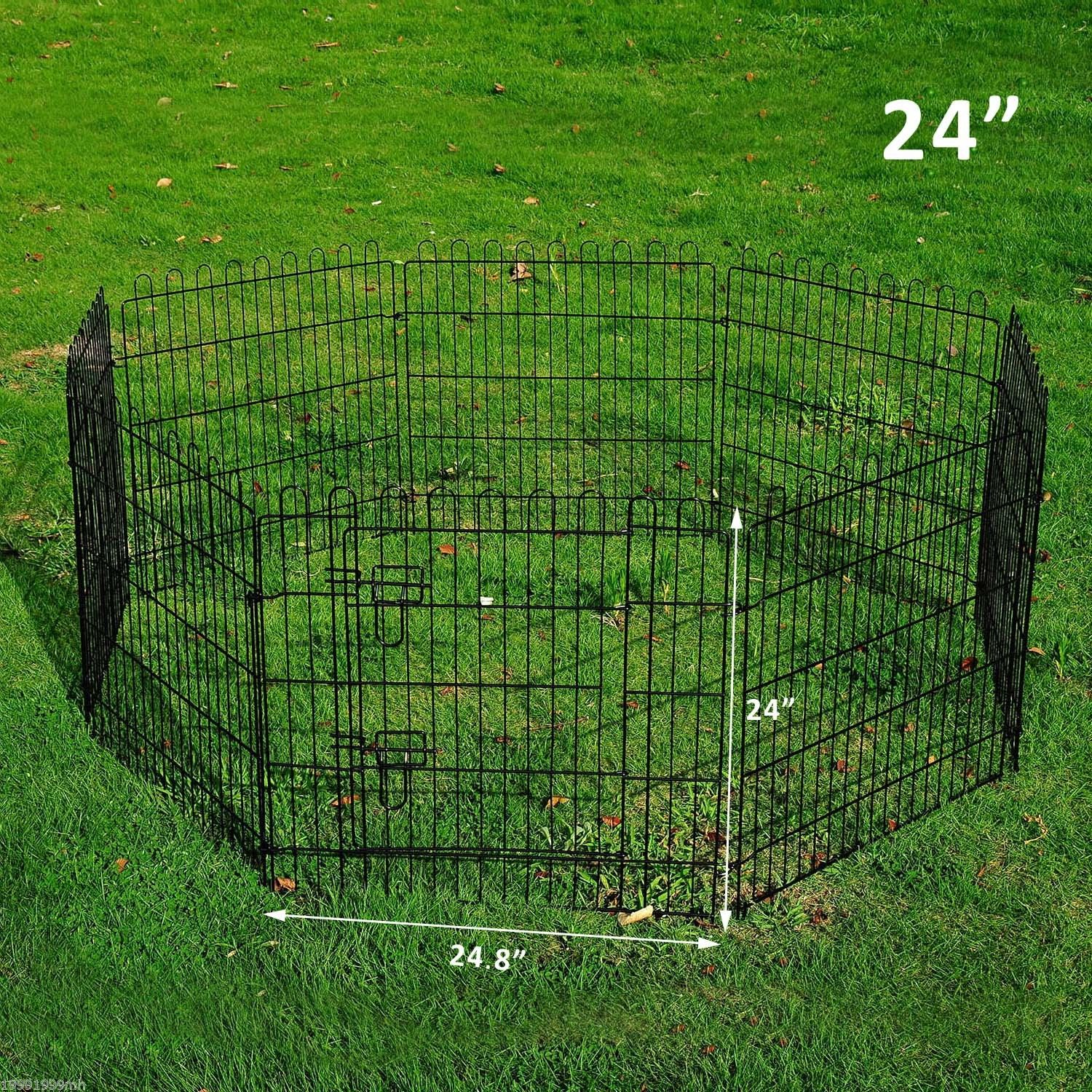 8-Panel-Metal-Pet-Playpen-Dog-Puppy-Cat-Rabbit-Exercise-Fence-Yard-Kennel thumbnail 3