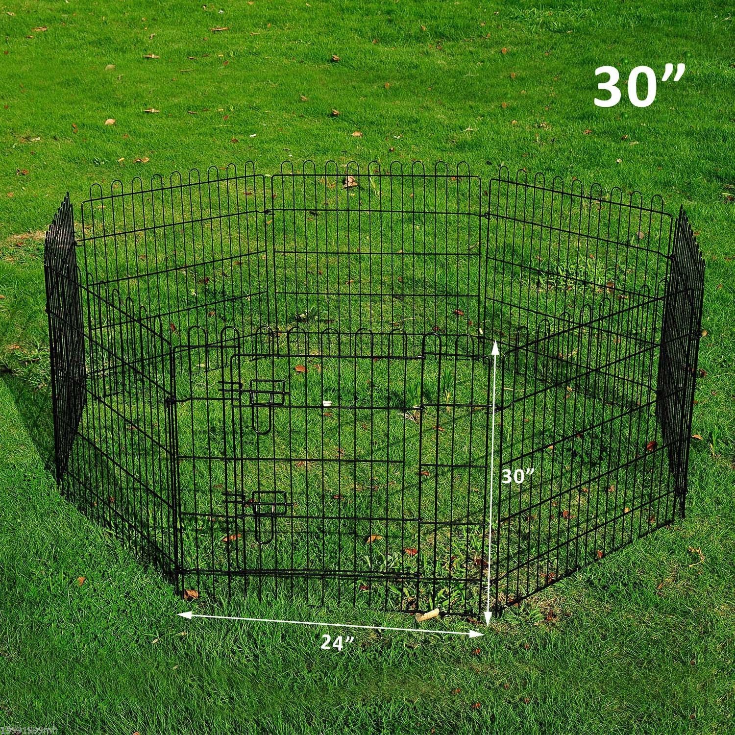 8-Panel-Metal-Pet-Playpen-Dog-Puppy-Cat-Rabbit-Exercise-Fence-Yard-Kennel thumbnail 11