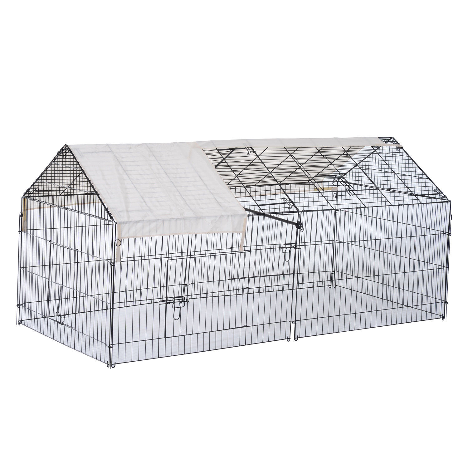 87x41x41-IN-Small-Animal-Enclosure-Rabbit-Dog-Pet-Metal-Cage-Run-Play-with-Cover