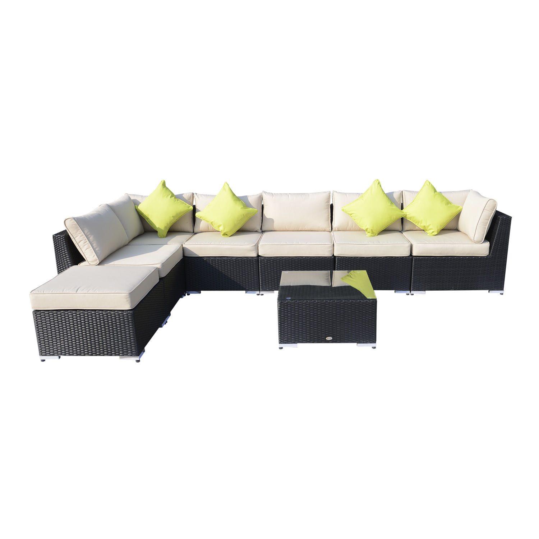 Rattan Furniture Corner Sofa Ebay: Rattan Outdoor Garden Furniture Patio Corner Sofa Set