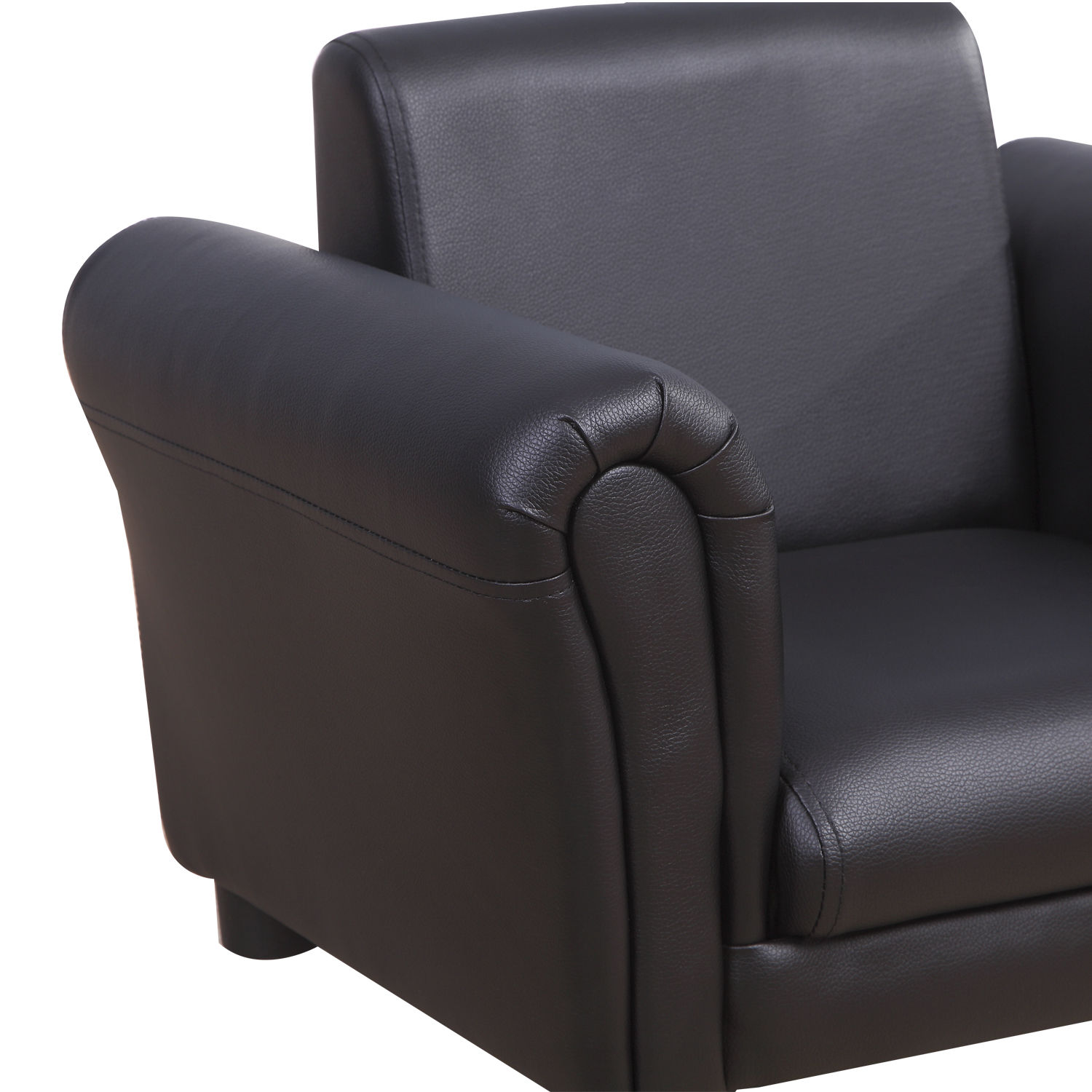 Kids-Sofa-Children-Chair-Seat-Armchair-W-Footstool-Playroom-Bedroom-Black-Pink thumbnail 10