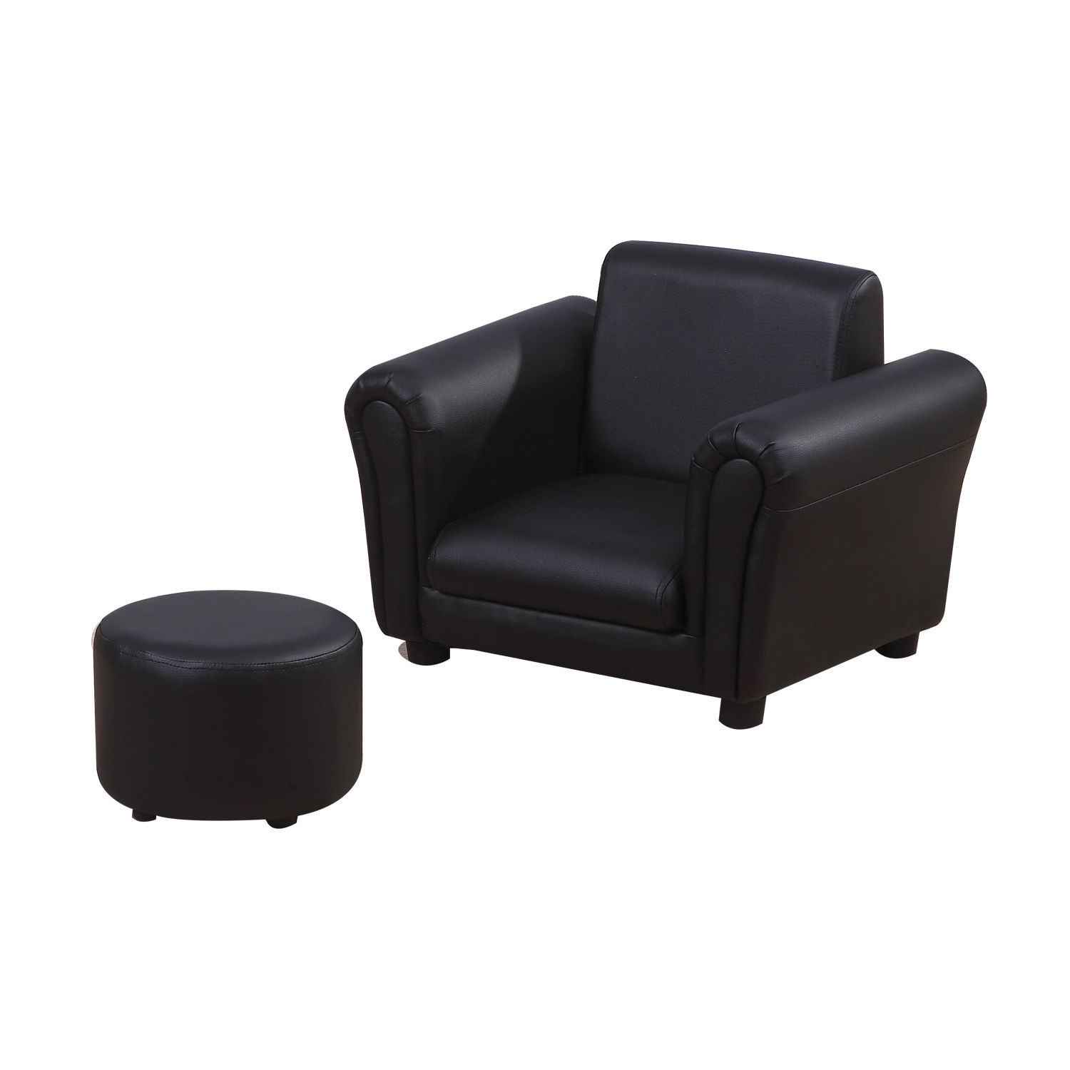 Kids-Sofa-Children-Chair-Seat-Armchair-W-Footstool-Playroom-Bedroom-Black-Pink thumbnail 7