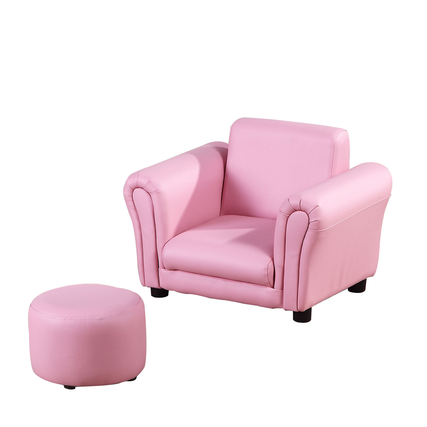 Kids-Sofa-Children-Chair-Seat-Armchair-W-Footstool-Playroom-Bedroom-Black-Pink thumbnail 16