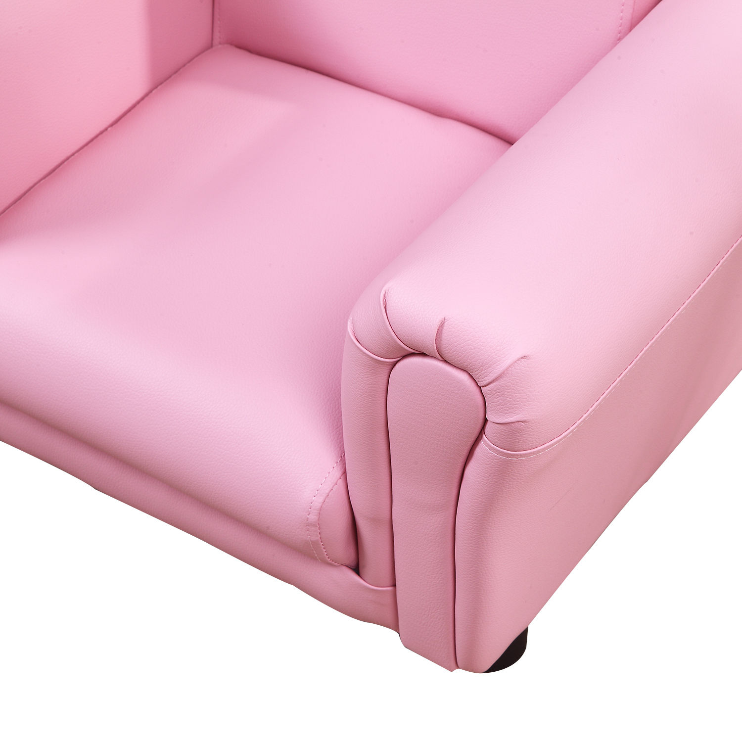 Kids-Sofa-Children-Chair-Seat-Armchair-W-Footstool-Playroom-Bedroom-Black-Pink thumbnail 19