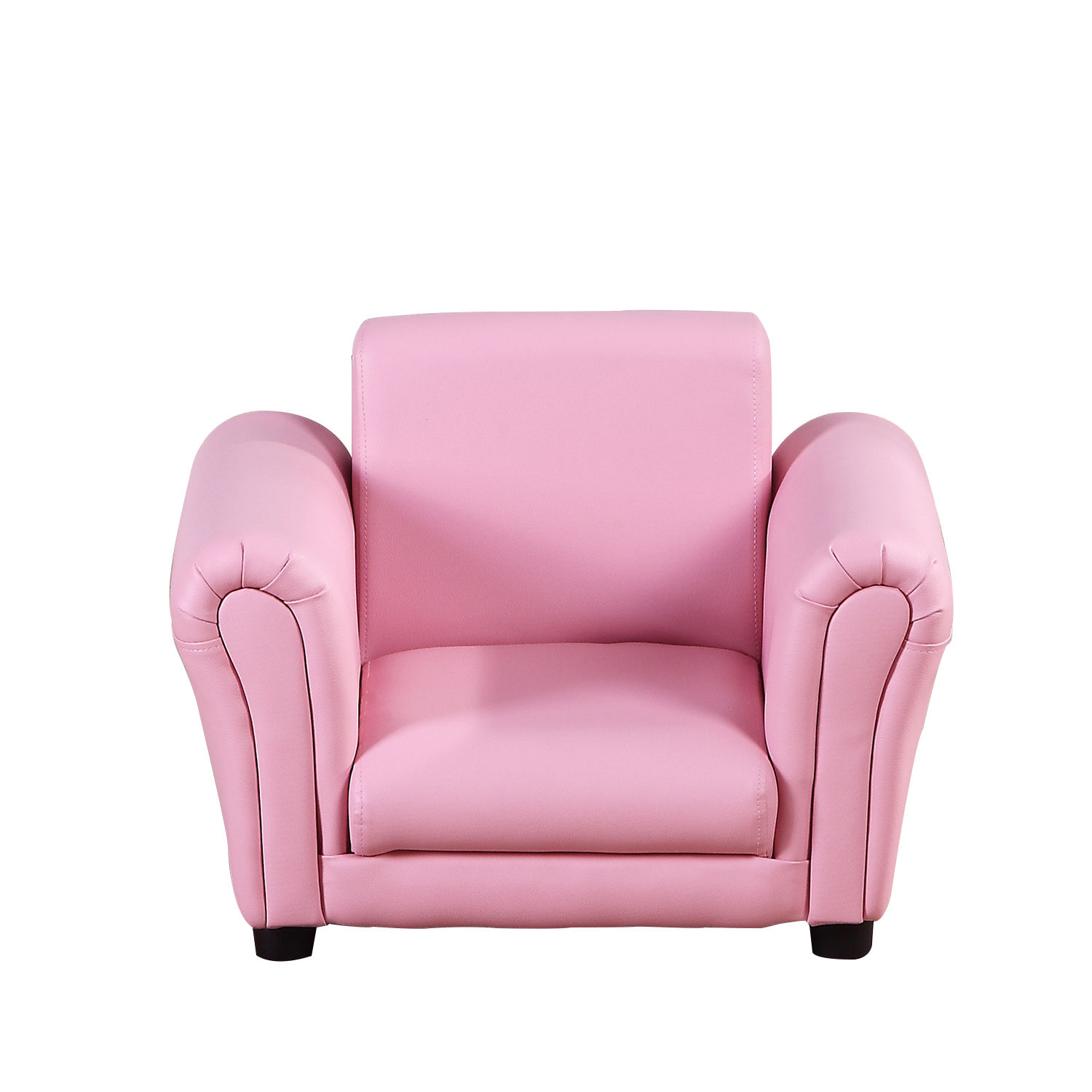 Kids-Sofa-Children-Chair-Seat-Armchair-W-Footstool-Playroom-Bedroom-Black-Pink thumbnail 14