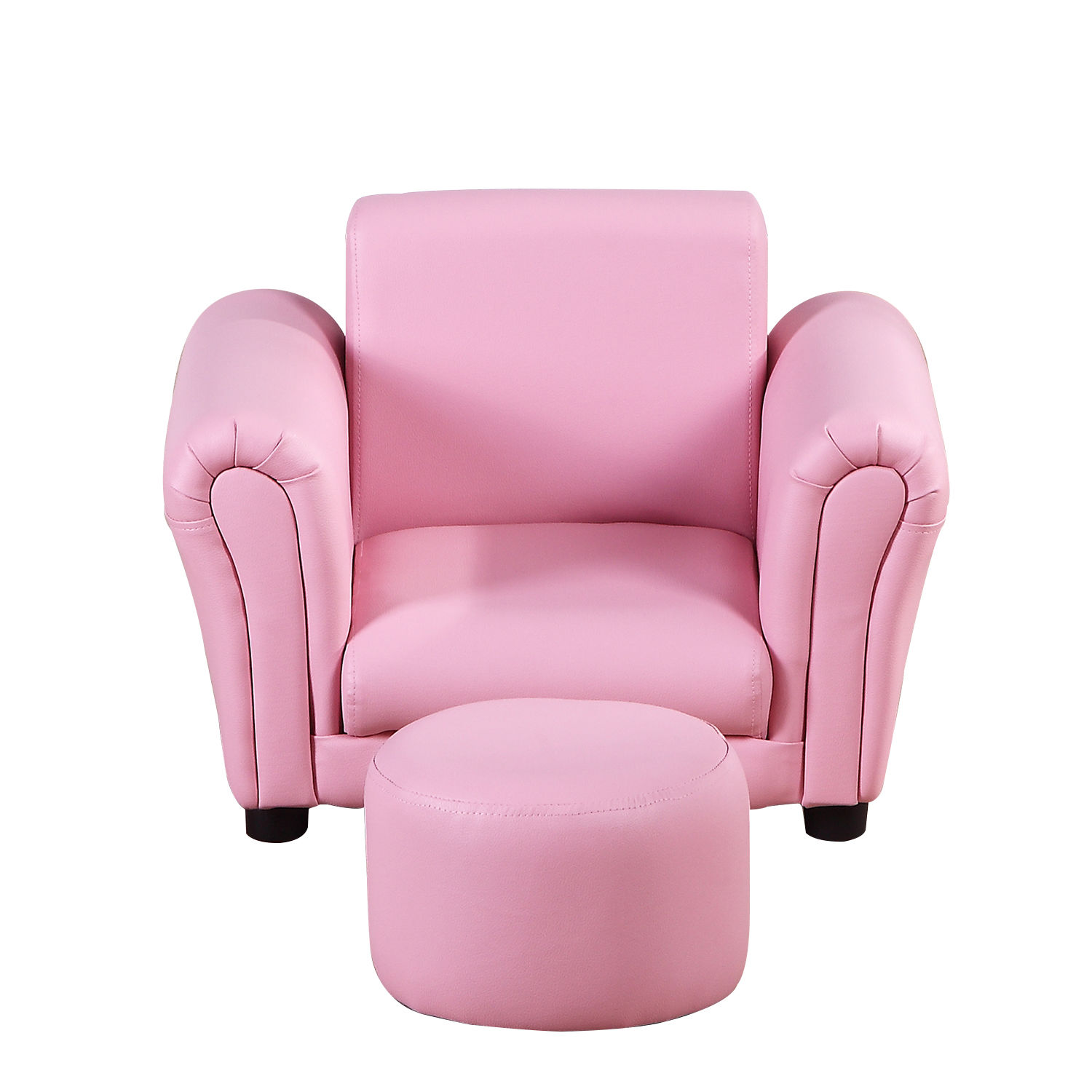 Kids-Sofa-Children-Chair-Seat-Armchair-W-Footstool-Playroom-Bedroom-Black-Pink thumbnail 13
