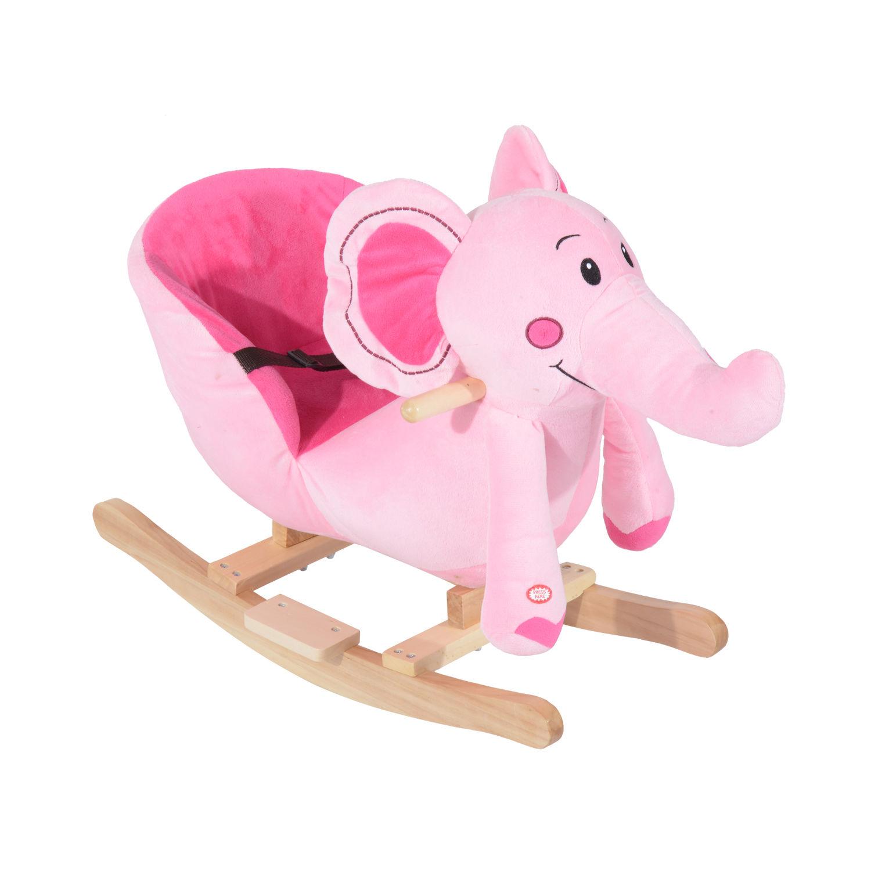 miniature 18 - Enfants en Bois Cheval à Bascule Rocker éléphant Ride Sur Jouet Cadeau Siège chansons