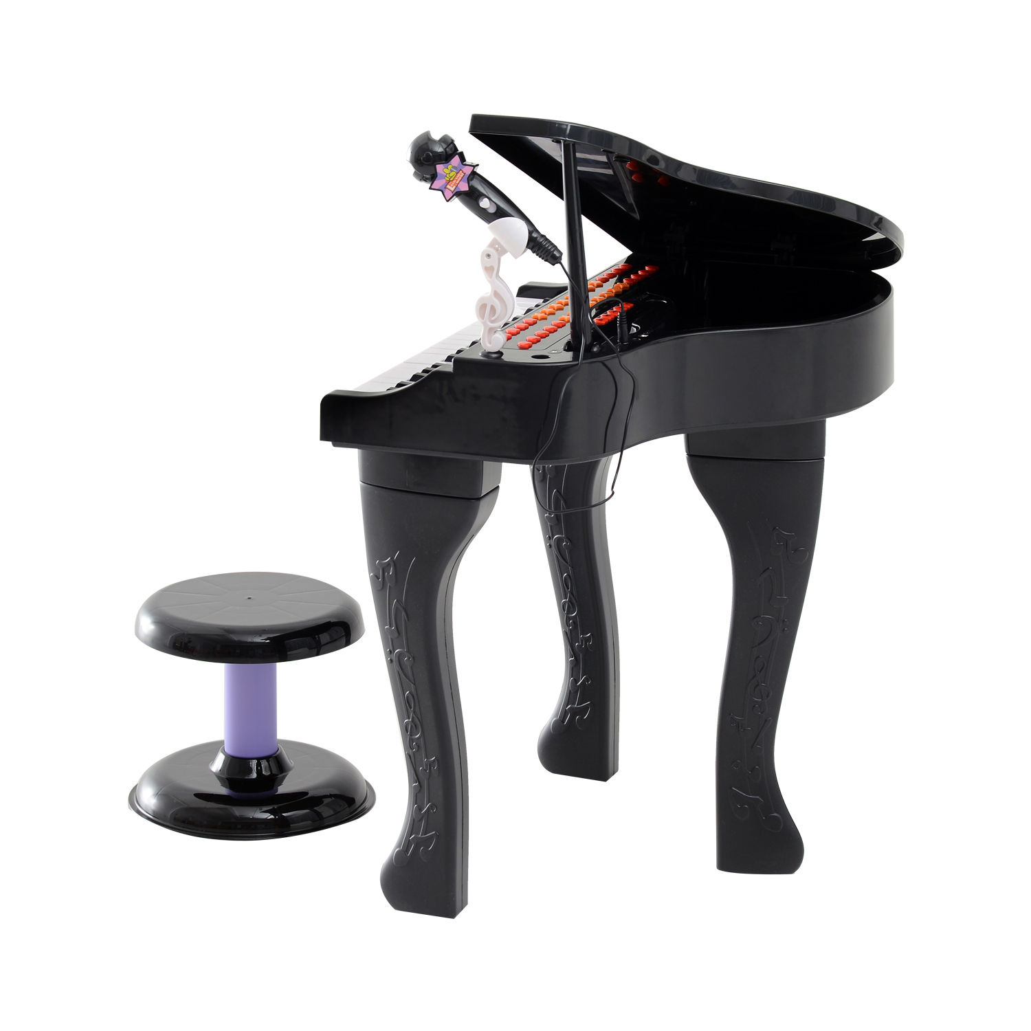 37-32-Key-Kids-Electronic-Keyboard-Mini-Grand-Piano-Stool-Microphone-Musical-Toy thumbnail 5