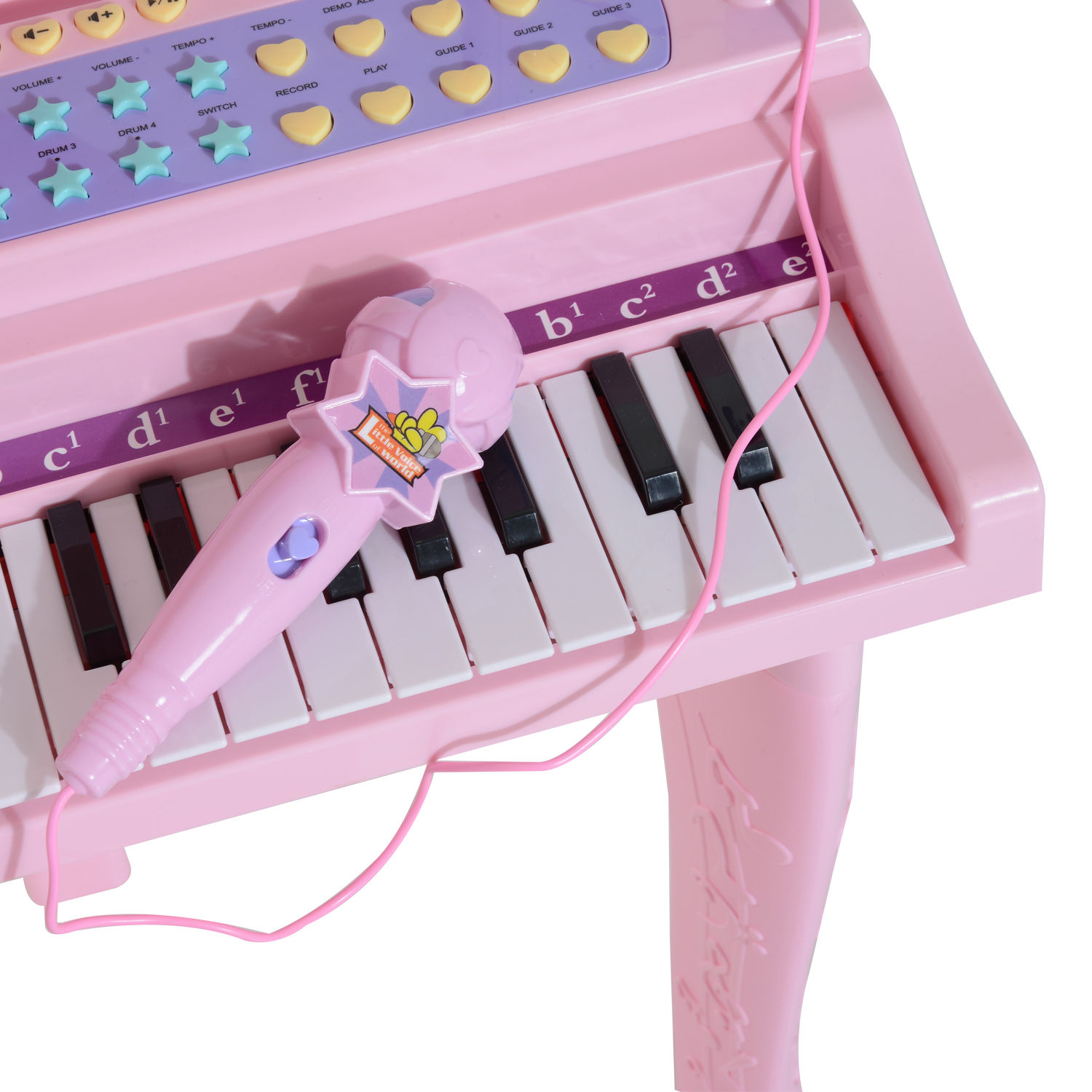 37-32-Key-Kids-Electronic-Keyboard-Mini-Grand-Piano-Stool-Microphone-Musical-Toy thumbnail 21