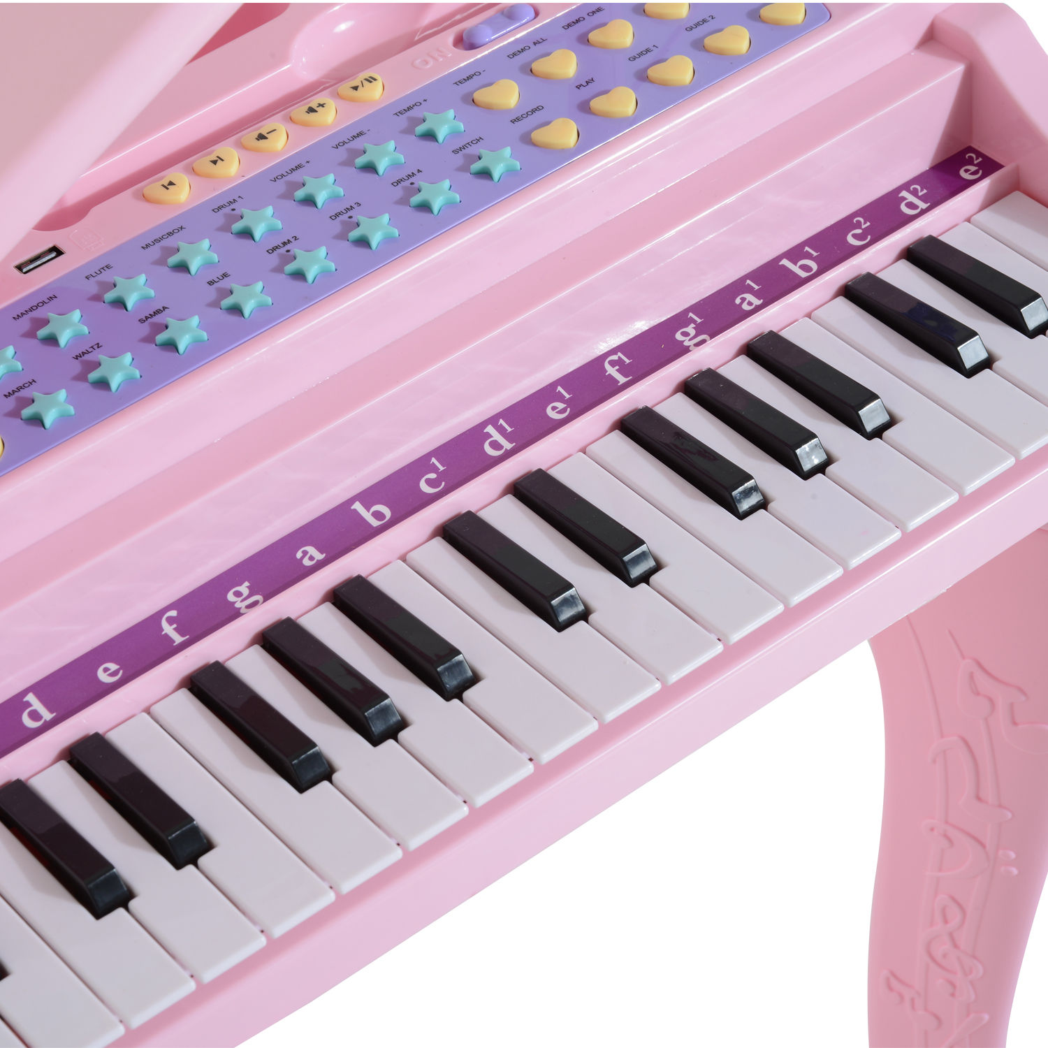 37-32-Key-Kids-Electronic-Keyboard-Mini-Grand-Piano-Stool-Microphone-Musical-Toy thumbnail 20