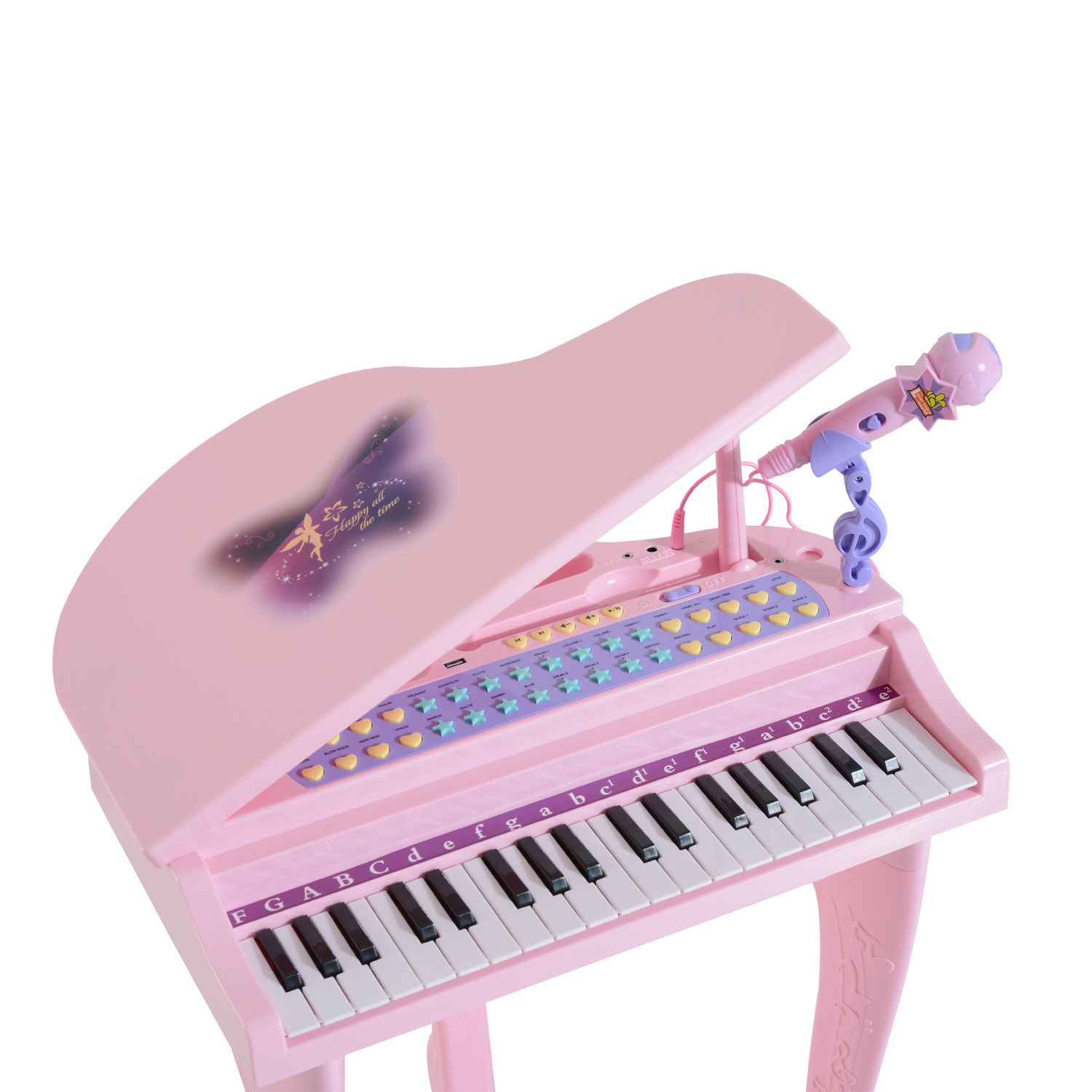 37-32-Key-Kids-Electronic-Keyboard-Mini-Grand-Piano-Stool-Microphone-Musical-Toy thumbnail 19