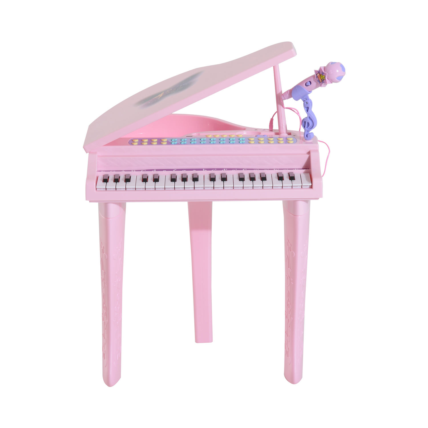 37-32-Key-Kids-Electronic-Keyboard-Mini-Grand-Piano-Stool-Microphone-Musical-Toy thumbnail 15