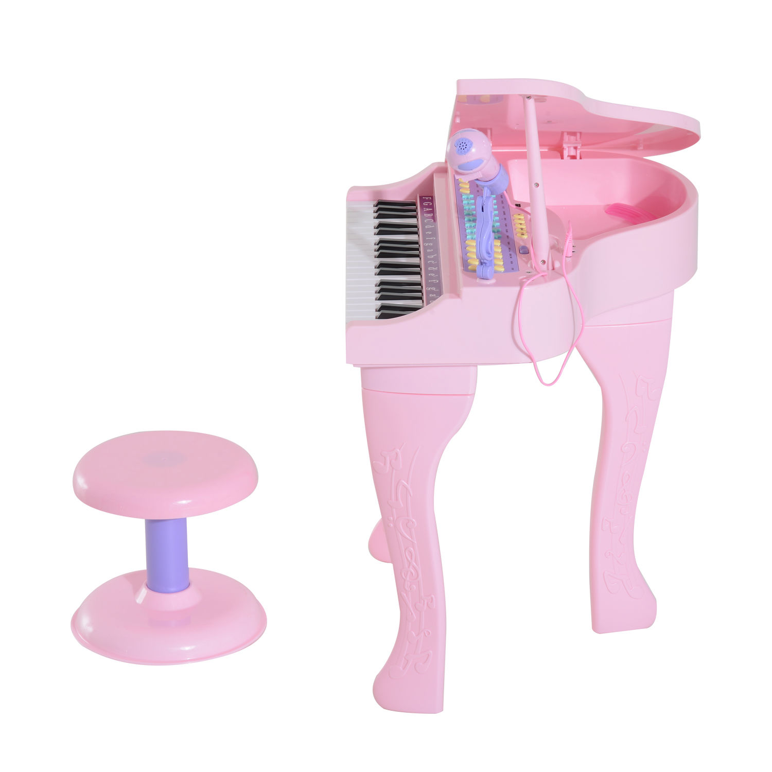 37-32-Key-Kids-Electronic-Keyboard-Mini-Grand-Piano-Stool-Microphone-Musical-Toy thumbnail 16
