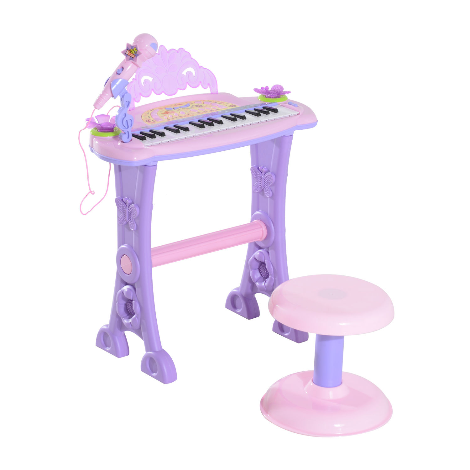 37-32-Key-Kids-Electronic-Keyboard-Mini-Grand-Piano-Stool-Microphone-Musical-Toy thumbnail 41