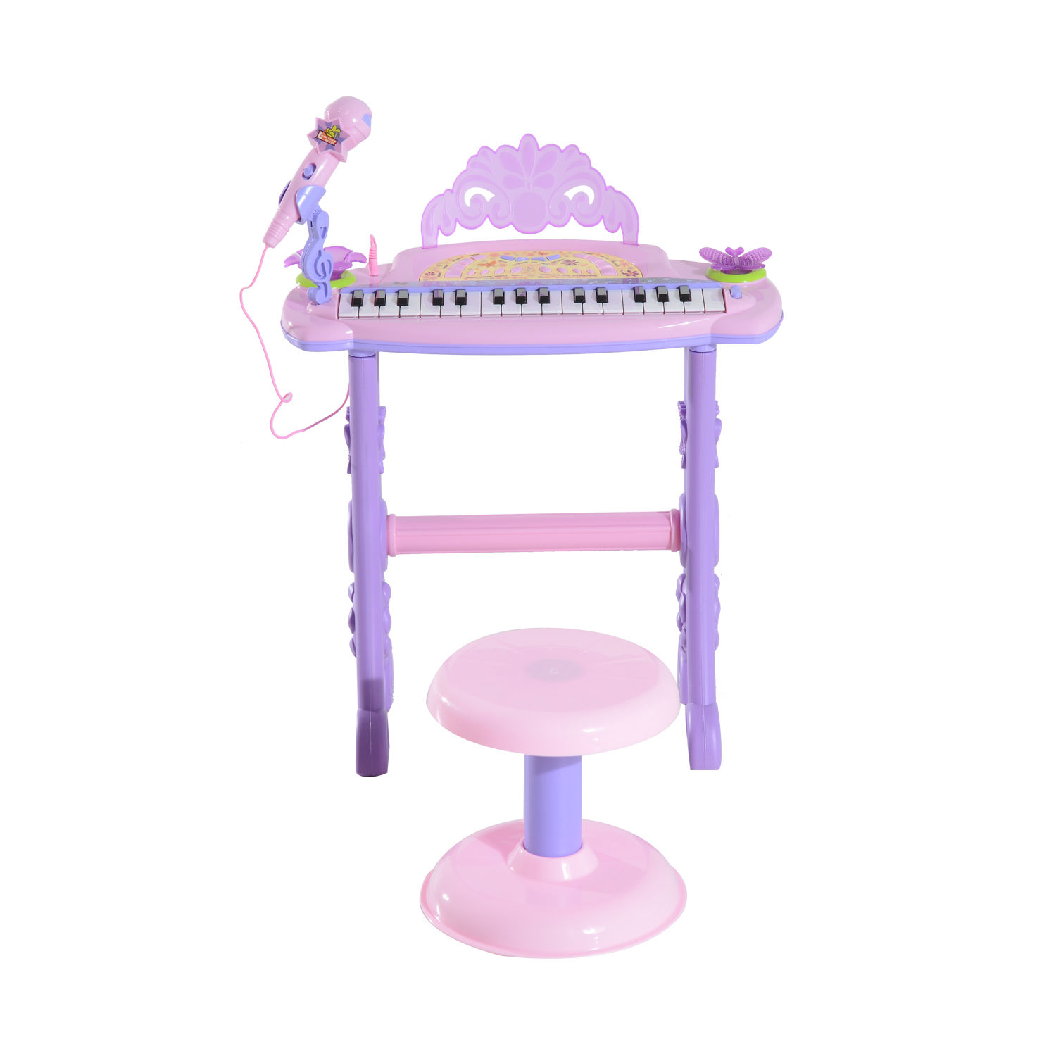 37-32-Key-Kids-Electronic-Keyboard-Mini-Grand-Piano-Stool-Microphone-Musical-Toy thumbnail 38