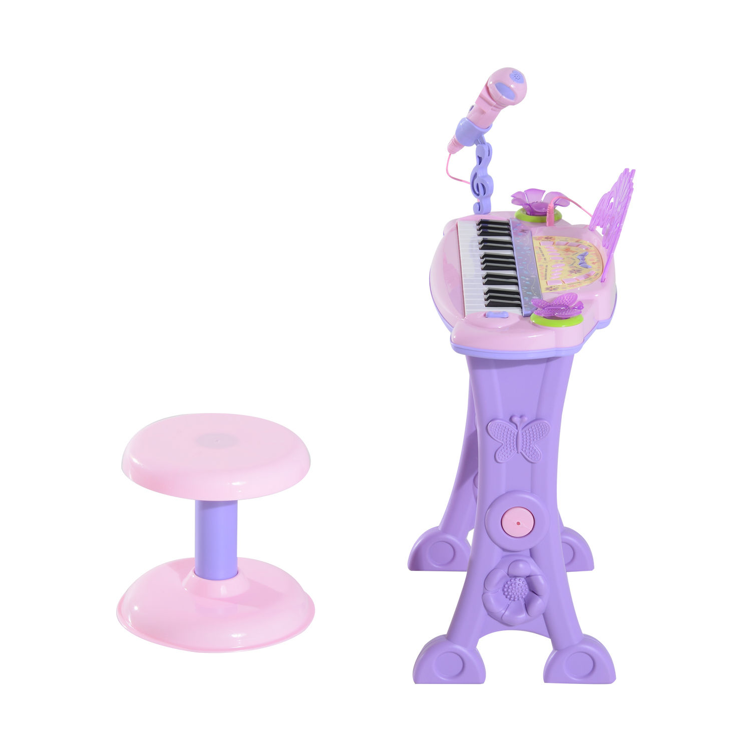 37-32-Key-Kids-Electronic-Keyboard-Mini-Grand-Piano-Stool-Microphone-Musical-Toy thumbnail 39