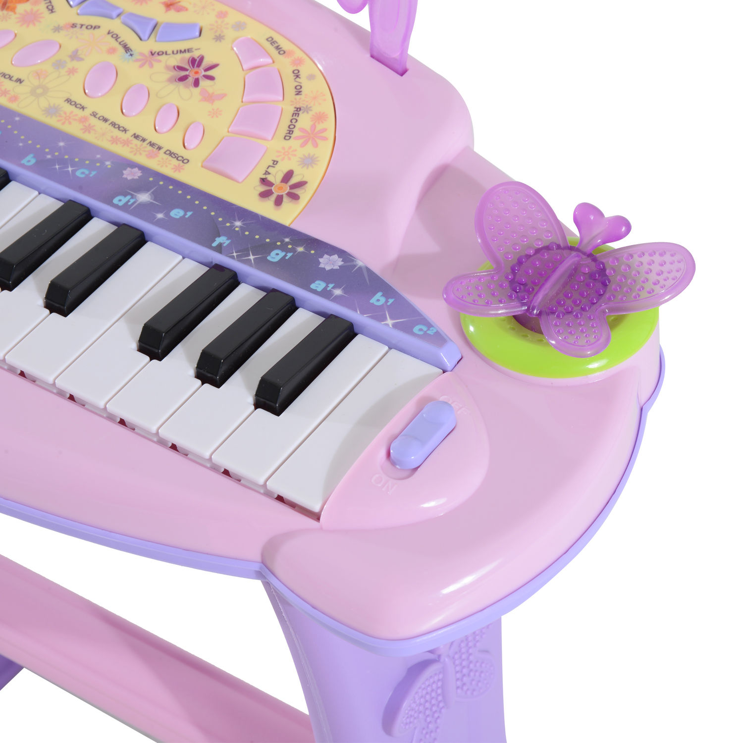 37-32-Key-Kids-Electronic-Keyboard-Mini-Grand-Piano-Stool-Microphone-Musical-Toy thumbnail 43