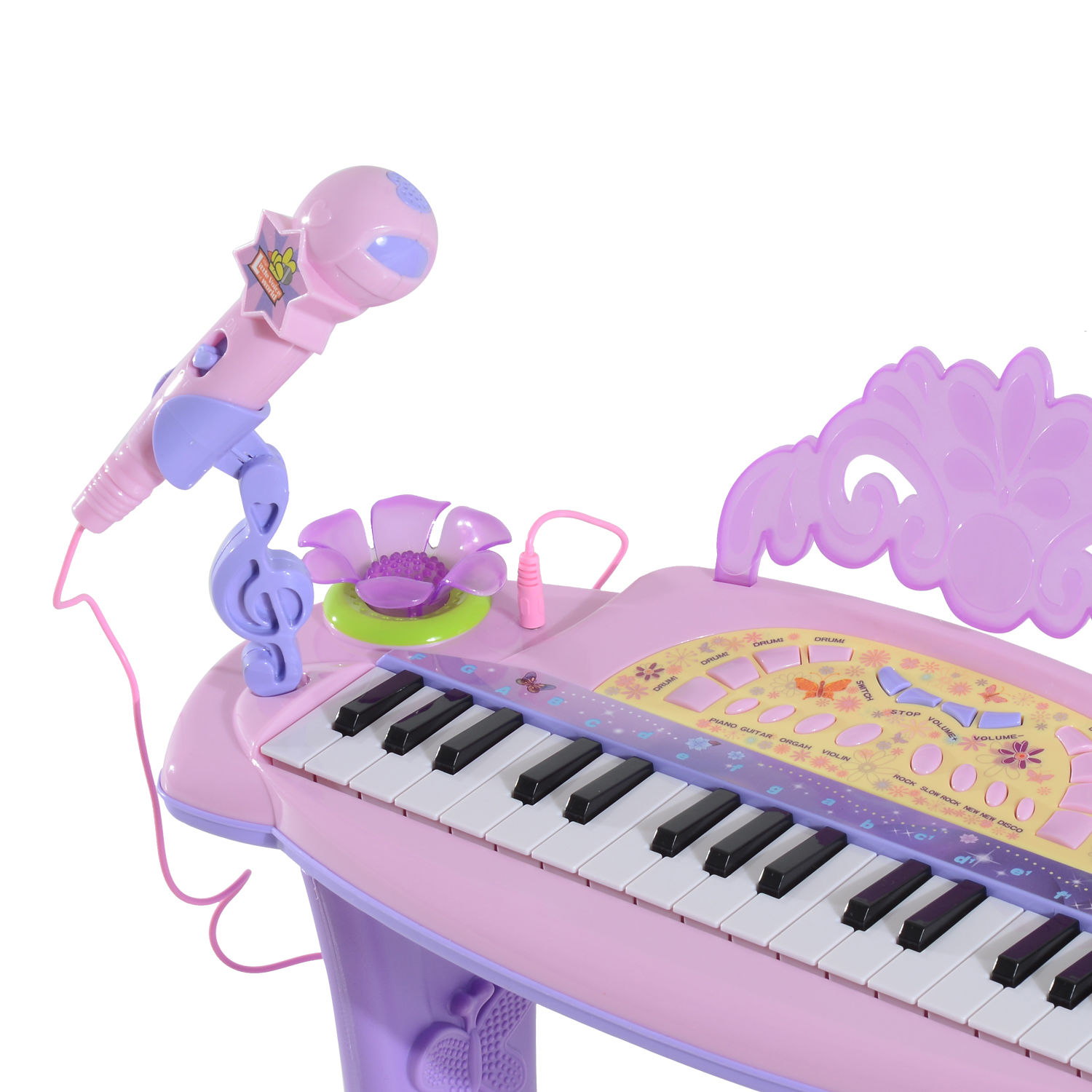 37-32-Key-Kids-Electronic-Keyboard-Mini-Grand-Piano-Stool-Microphone-Musical-Toy thumbnail 42
