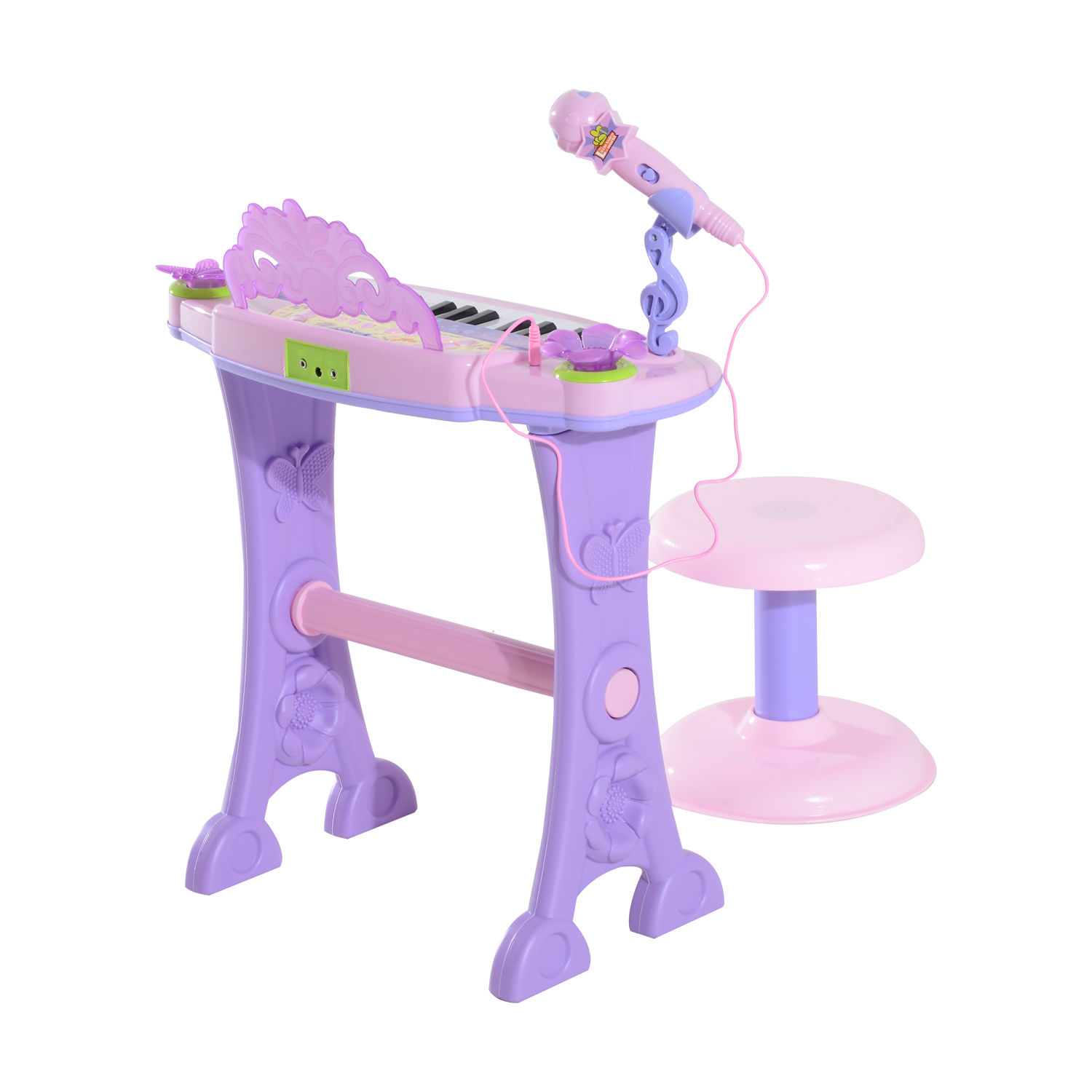 37-32-Key-Kids-Electronic-Keyboard-Mini-Grand-Piano-Stool-Microphone-Musical-Toy thumbnail 40
