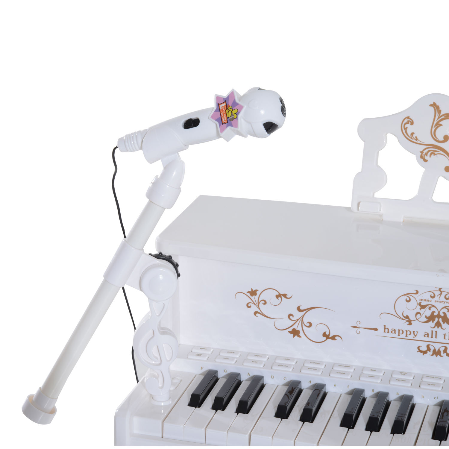 37-32-Key-Kids-Electronic-Keyboard-Mini-Grand-Piano-Stool-Microphone-Musical-Toy thumbnail 54