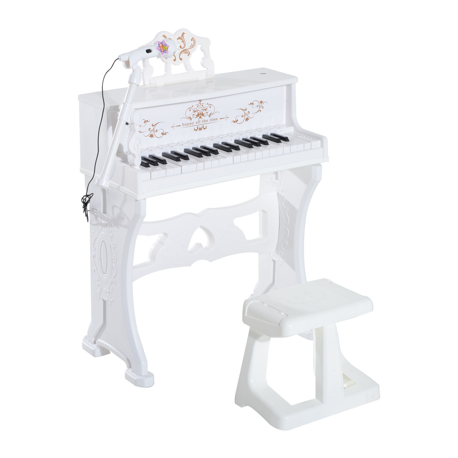 37-32-Key-Kids-Electronic-Keyboard-Mini-Grand-Piano-Stool-Microphone-Musical-Toy thumbnail 53