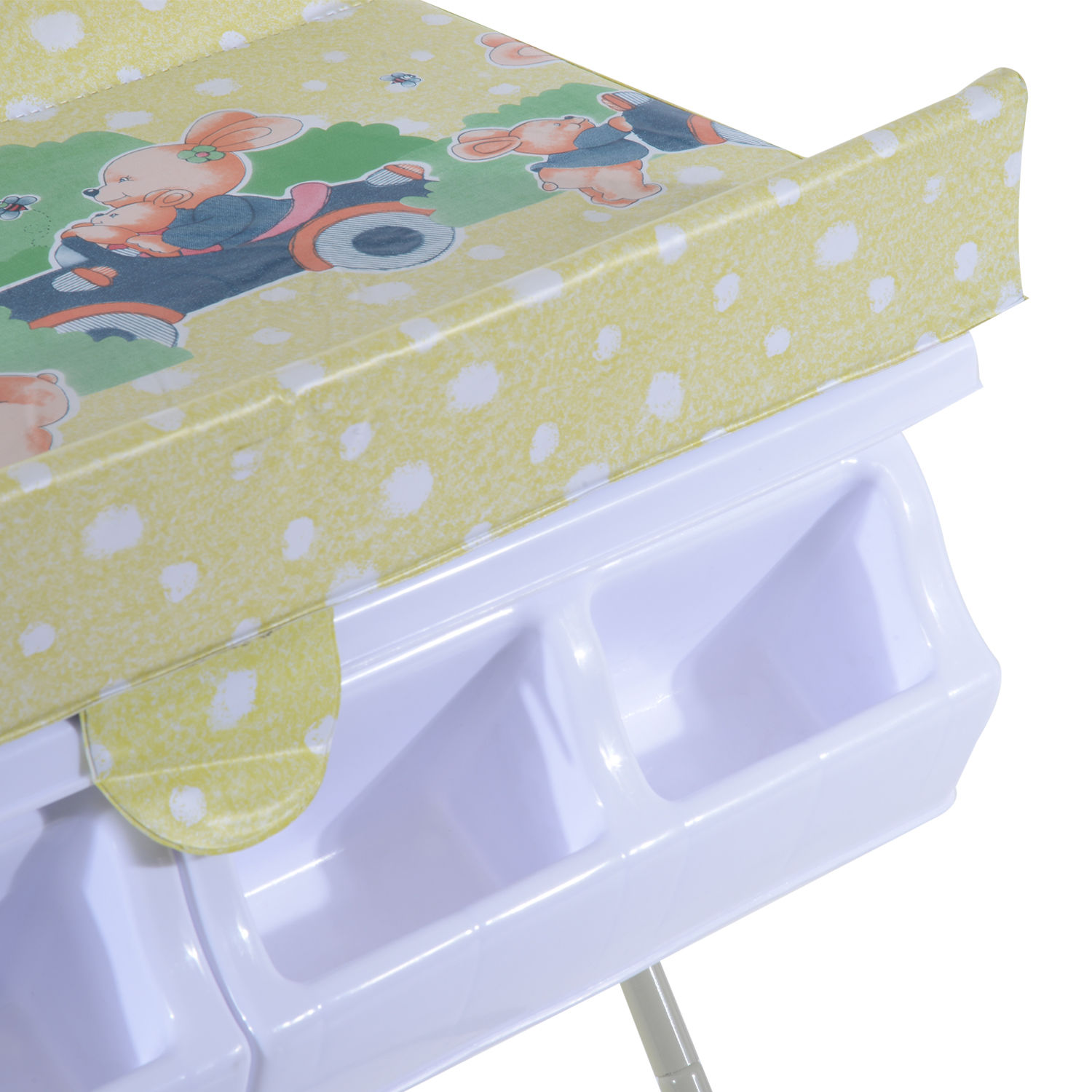 Baby Infant Changing Table Unit Rolling Bath Station Storage ...