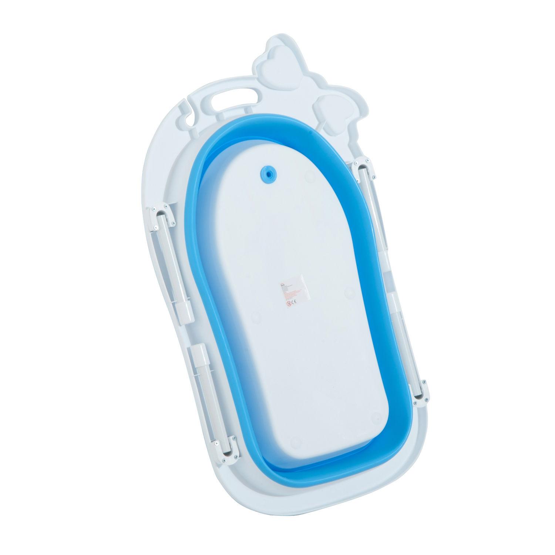 HOMCOM Collapsable Baby Bath Tub Foldable Toddler Kids Wash Play ...
