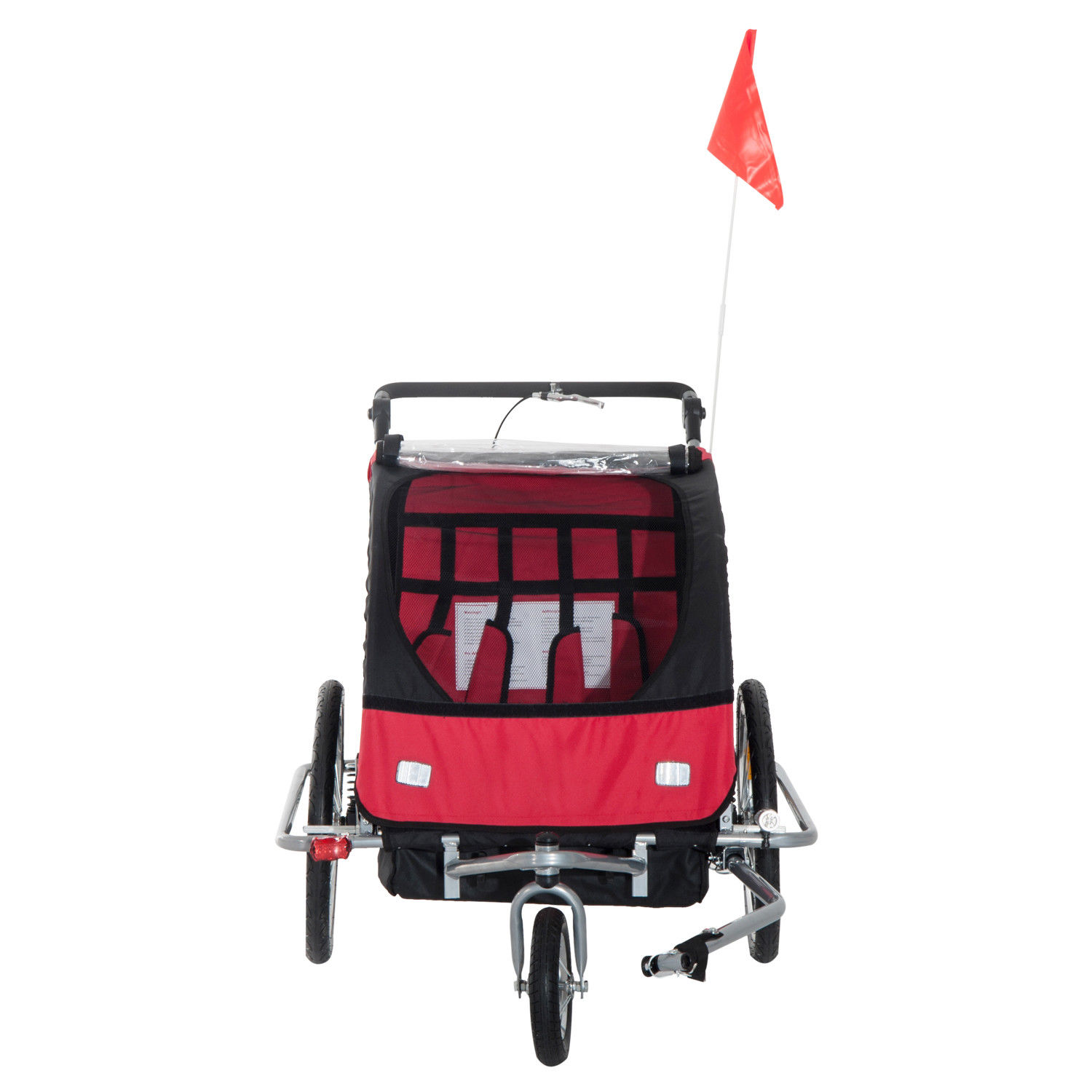 2-Seater-Child-Bike-Trailer-Kids-Carrier-Safety-Harness-Baby-Stroller-Jogger thumbnail 4