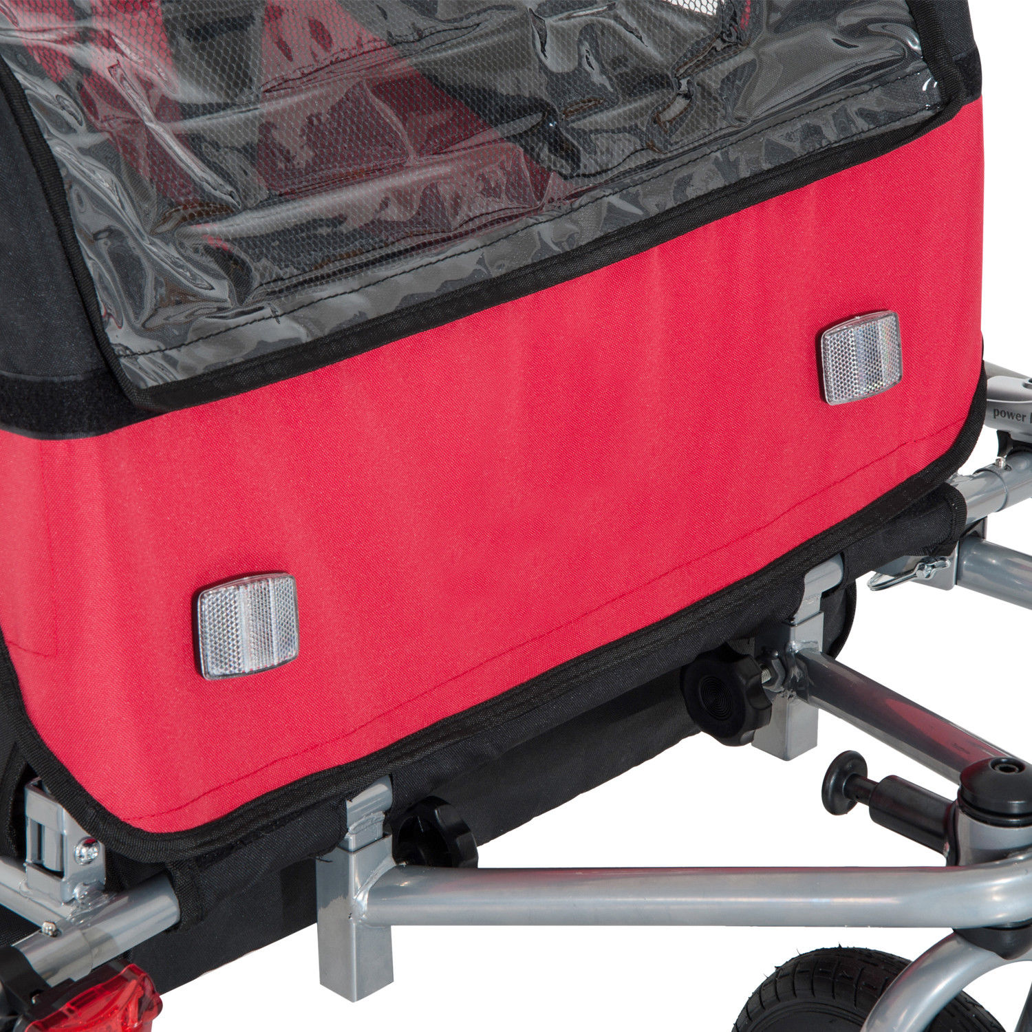 2-Seater-Child-Bike-Trailer-Kids-Carrier-Safety-Harness-Baby-Stroller-Jogger thumbnail 9