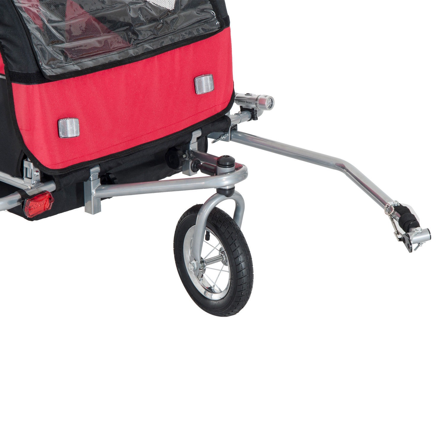 2-Seater-Child-Bike-Trailer-Kids-Carrier-Safety-Harness-Baby-Stroller-Jogger thumbnail 8