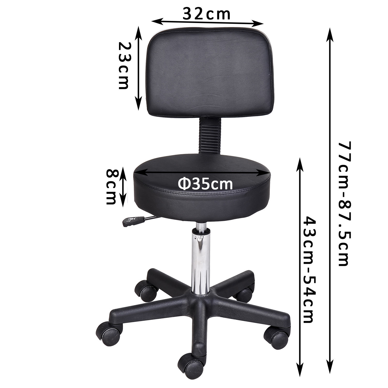 Massage-Stool-Beauty-Salon-Swivel-Gas-Lift-Manicure-Tattoo-Stools-Chair-2-Colour miniatuur 3