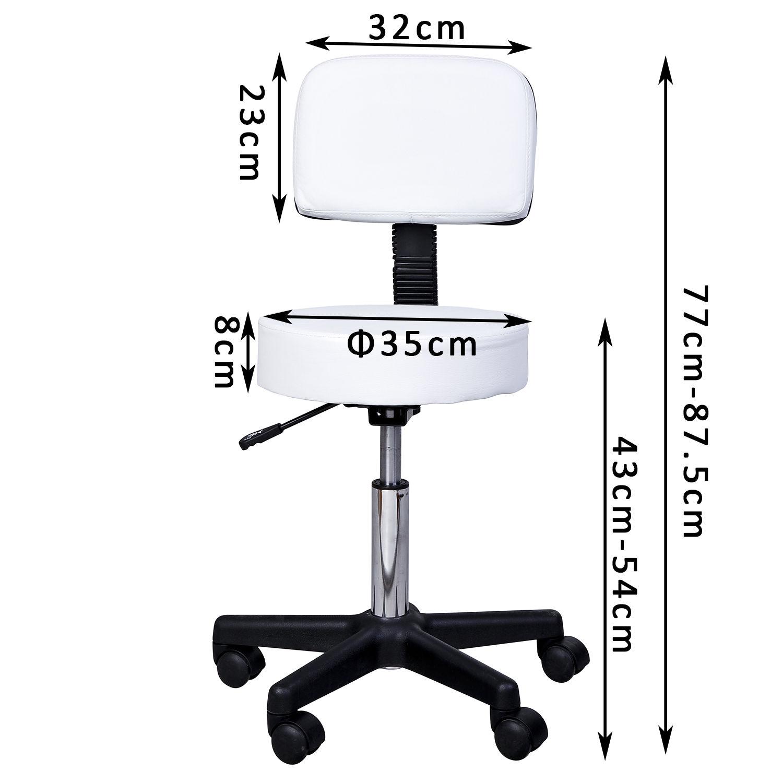 Massage-Stool-Beauty-Salon-Swivel-Gas-Lift-Manicure-Tattoo-Stools-Chair-2-Colour miniatuur 8