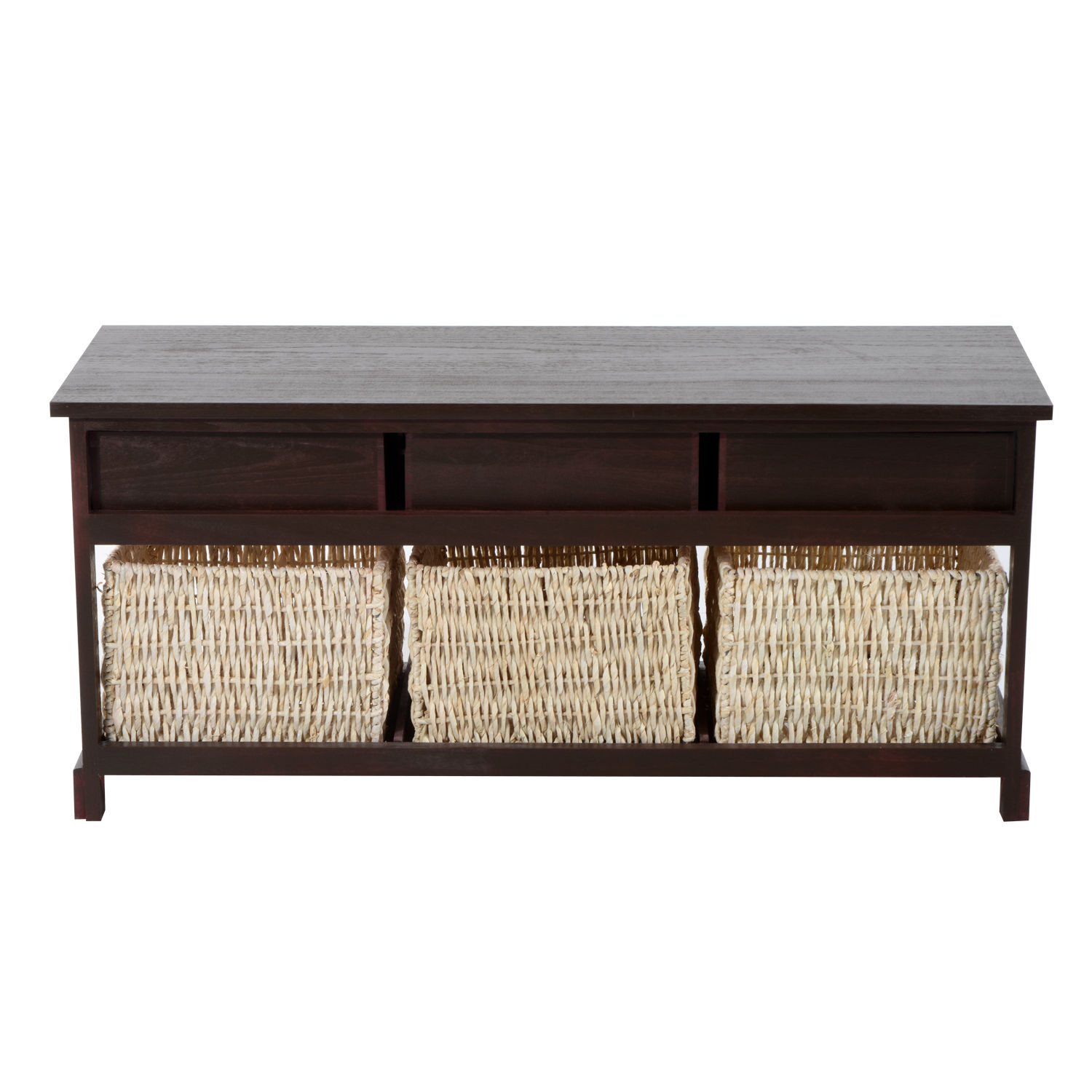 Storage Table Living Room Modern Design Seagrass Wicker Home 3 ...