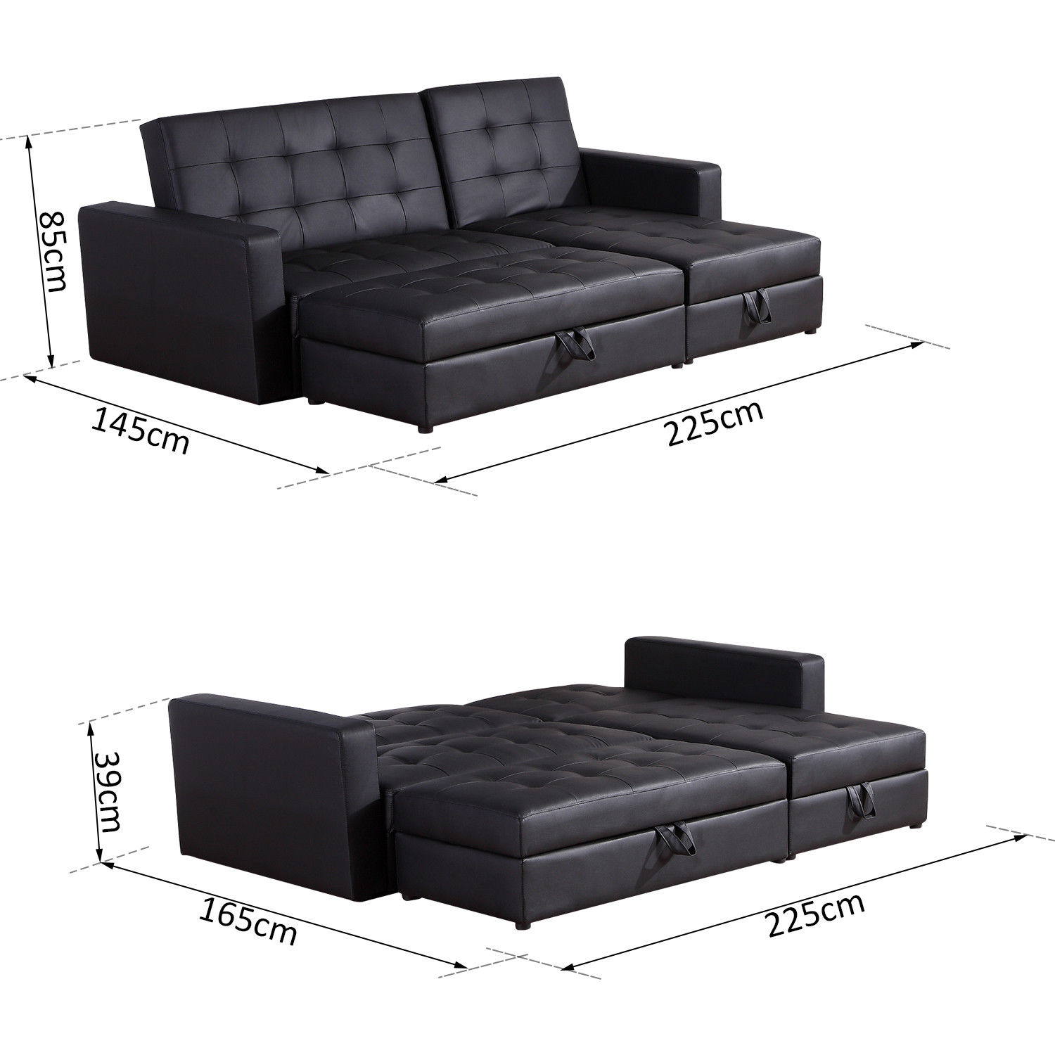 edmonton bed store chaise mazin stationary pull products sectional out furniture sofa with