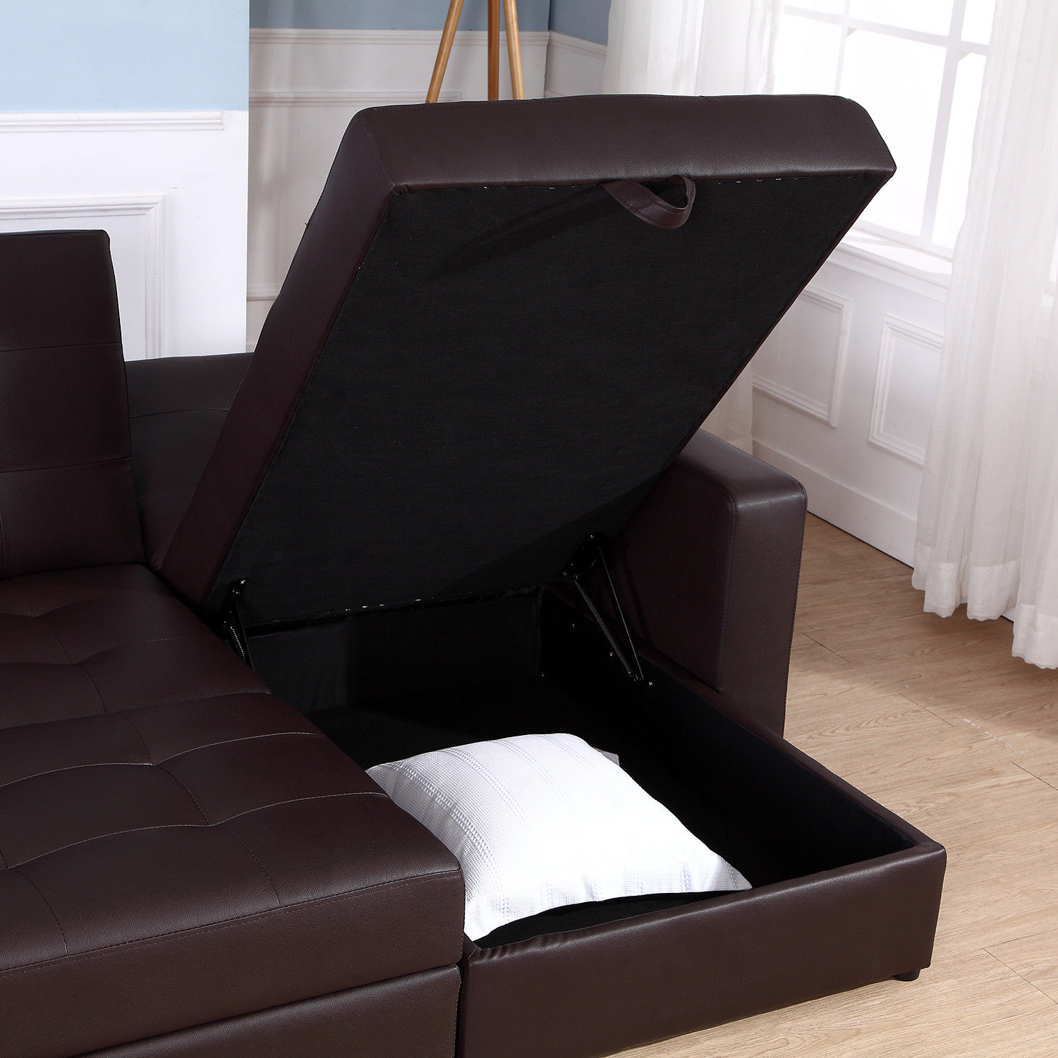 Corner Sofa Bed Ebay Uk: Sofa Bed Storage Sleeper Chaise Loveseat Couch Sectional