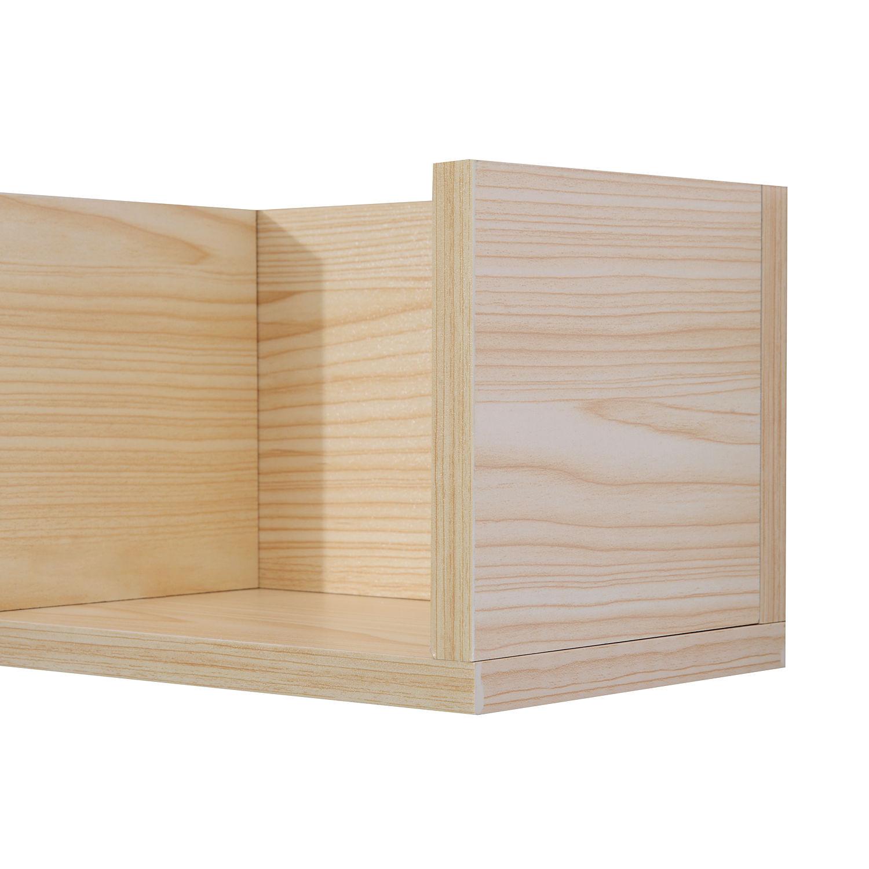 Modern Wall Mount Storage Shelf CD Media Storage Rack Wooden Unit 4 Cubes