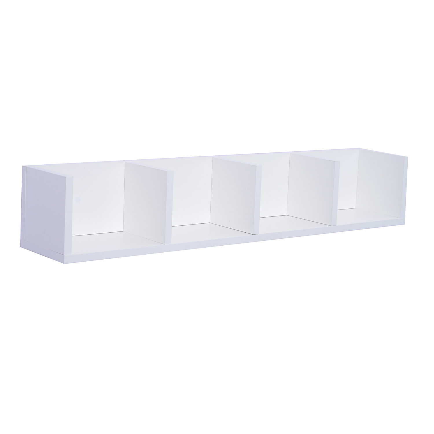 Modern-Wall-Mount-Storage-Shelf-CD-Media-Storage-Rack-Wooden-Unit-4-Cubes
