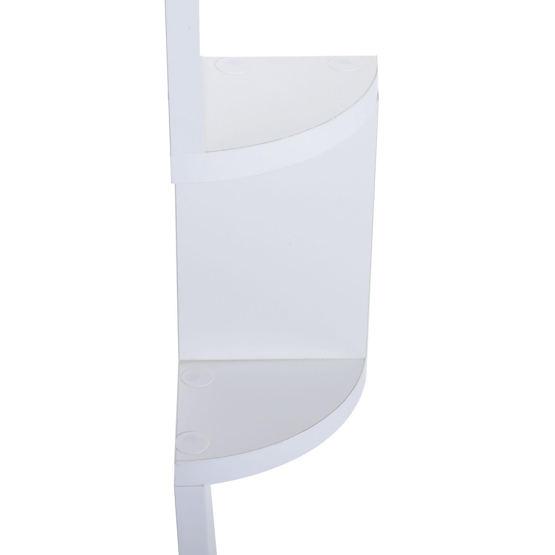 5 Tier Corner Wall Mounted Shelf Storage Rack Hanging Zig