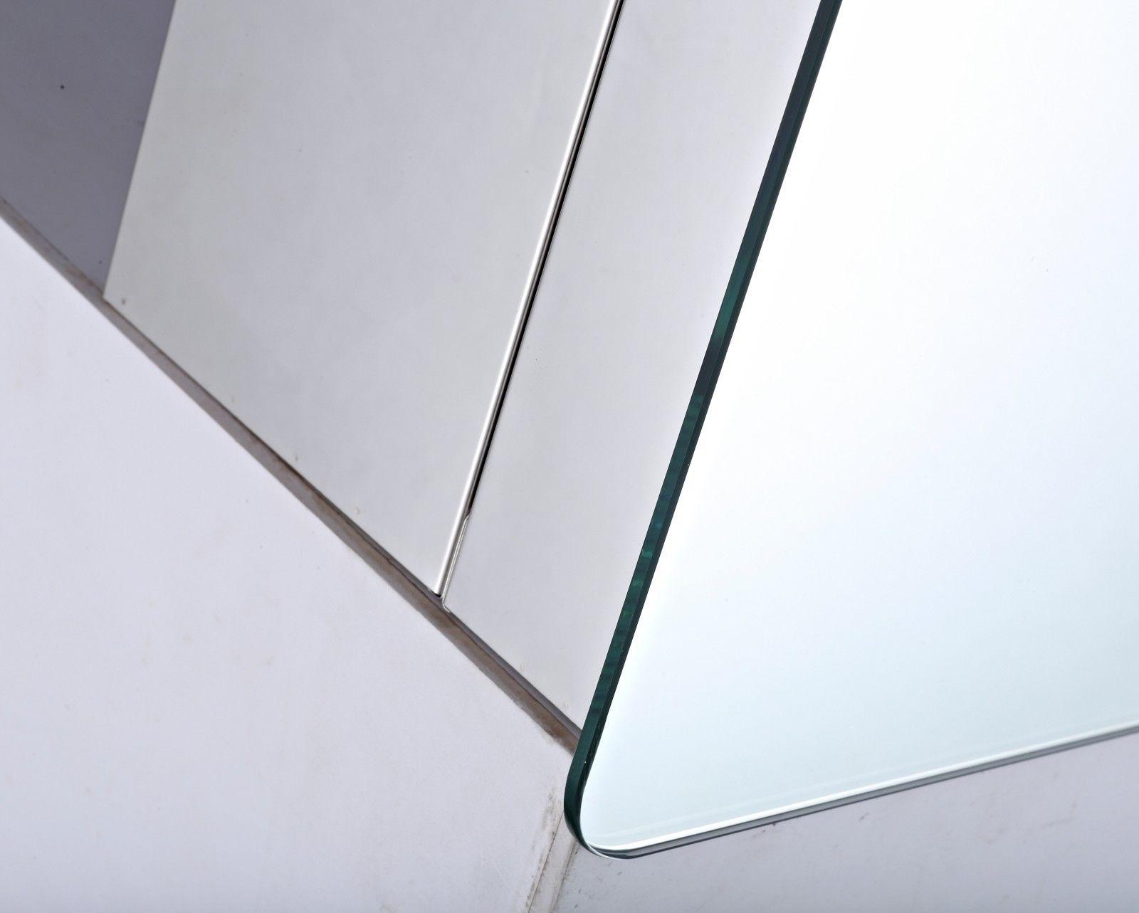 Round LED Cabinet Mirror Storage Bathroom Sliding Door