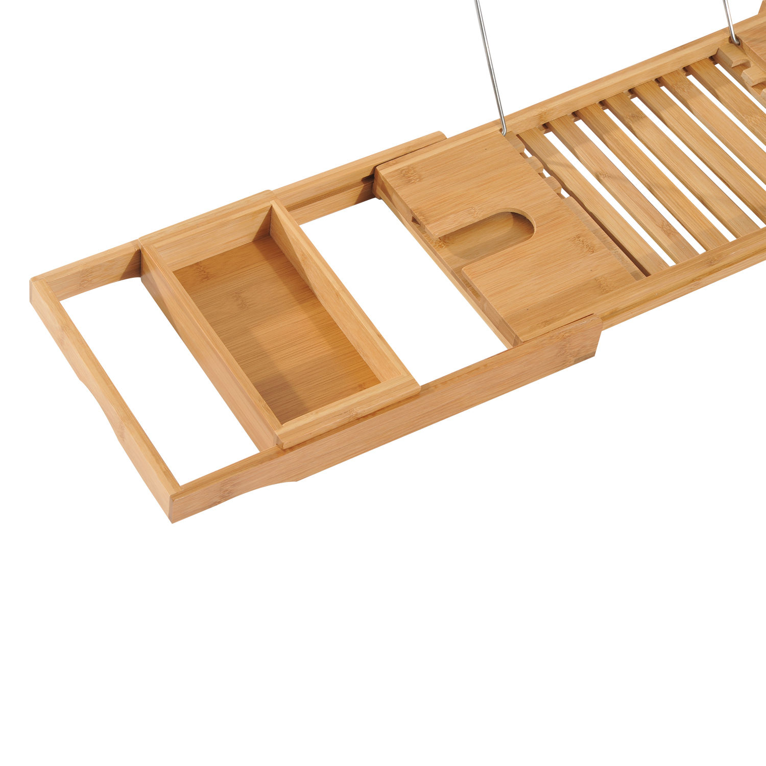 Bath Rack Bathroom Tray Bamboo Wooden Bathtub Shelf Wine Holder | eBay