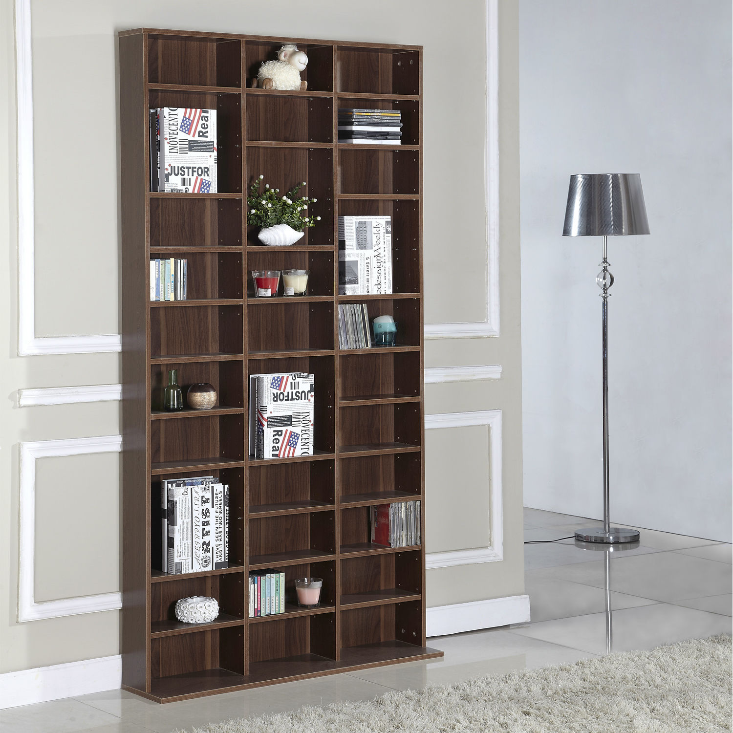 dp oak prepac kitchen cd width black bookcases cabinet wall com and dining triple amazon bookcase storage