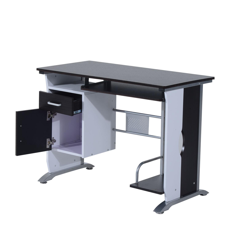 Computer-Desk-Workstation-Table-Sliding-Keyboard-Shelf-Wood-Drawer-Office-Home thumbnail 15