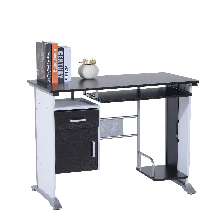 Computer-Desk-Workstation-Table-Sliding-Keyboard-Shelf-Wood-Drawer-Office-Home thumbnail 16