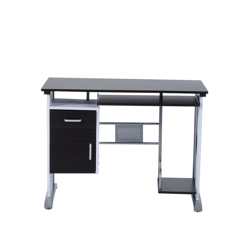 Computer-Desk-Workstation-Table-Sliding-Keyboard-Shelf-Wood-Drawer-Office-Home thumbnail 17
