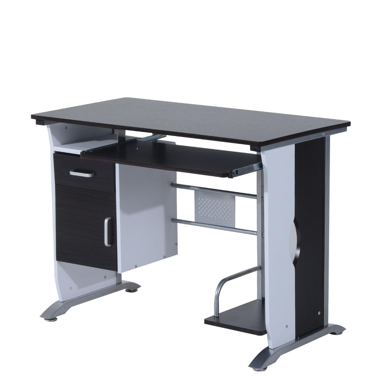 Computer-Desk-Workstation-Table-Sliding-Keyboard-Shelf-Wood-Drawer-Office-Home thumbnail 14