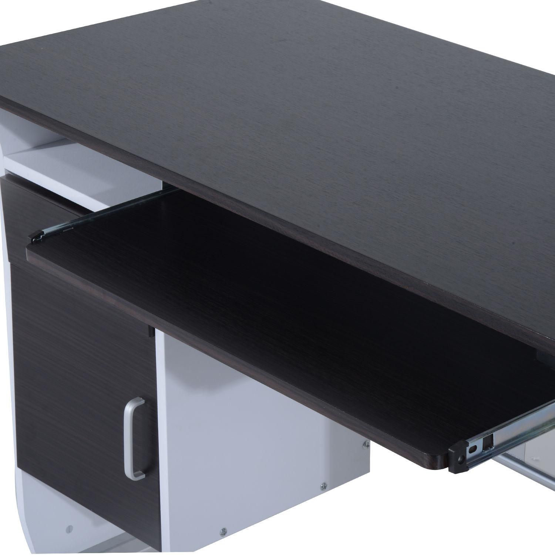 Computer-Desk-Workstation-Table-Sliding-Keyboard-Shelf-Wood-Drawer-Office-Home thumbnail 18