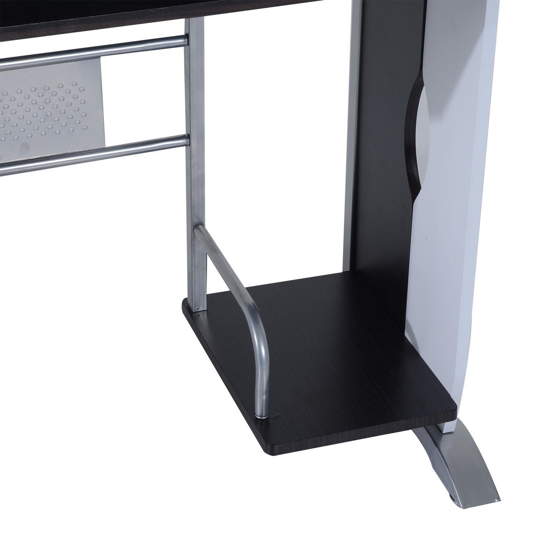 Computer-Desk-Workstation-Table-Sliding-Keyboard-Shelf-Wood-Drawer-Office-Home thumbnail 19