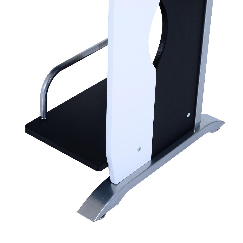 Computer-Desk-Workstation-Table-Sliding-Keyboard-Shelf-Wood-Drawer-Office-Home thumbnail 9