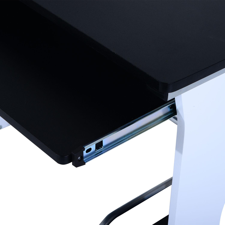 Computer-Desk-Workstation-Table-Sliding-Keyboard-Shelf-Wood-Drawer-Office-Home thumbnail 8