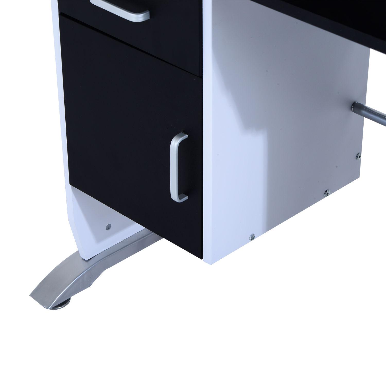 Computer-Desk-Workstation-Table-Sliding-Keyboard-Shelf-Wood-Drawer-Office-Home thumbnail 11